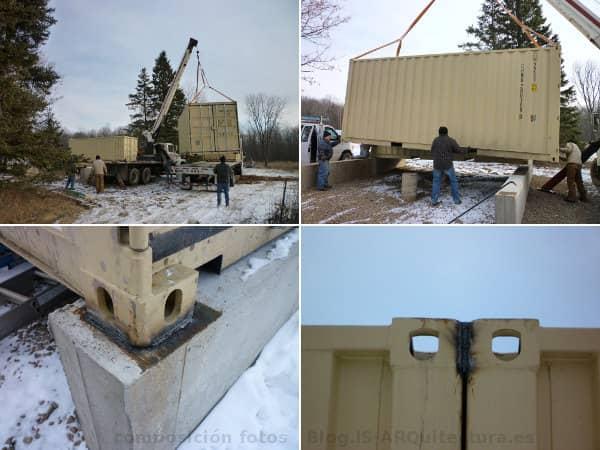 Cabin Tin_CAN placement des conteneurs de fondations