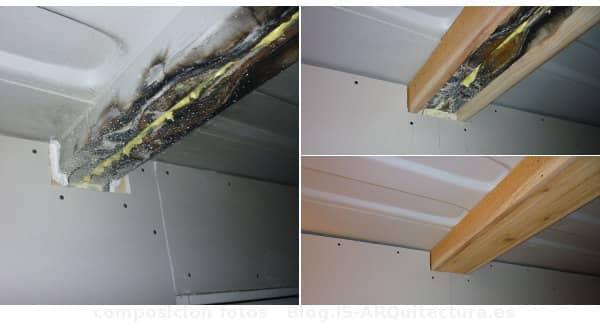 Cabin Tin_CAN détails bois doublé de renforcement de poutre métallique