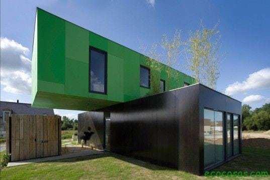 Maisons avec des conteneurs bon marché et écologiques 7