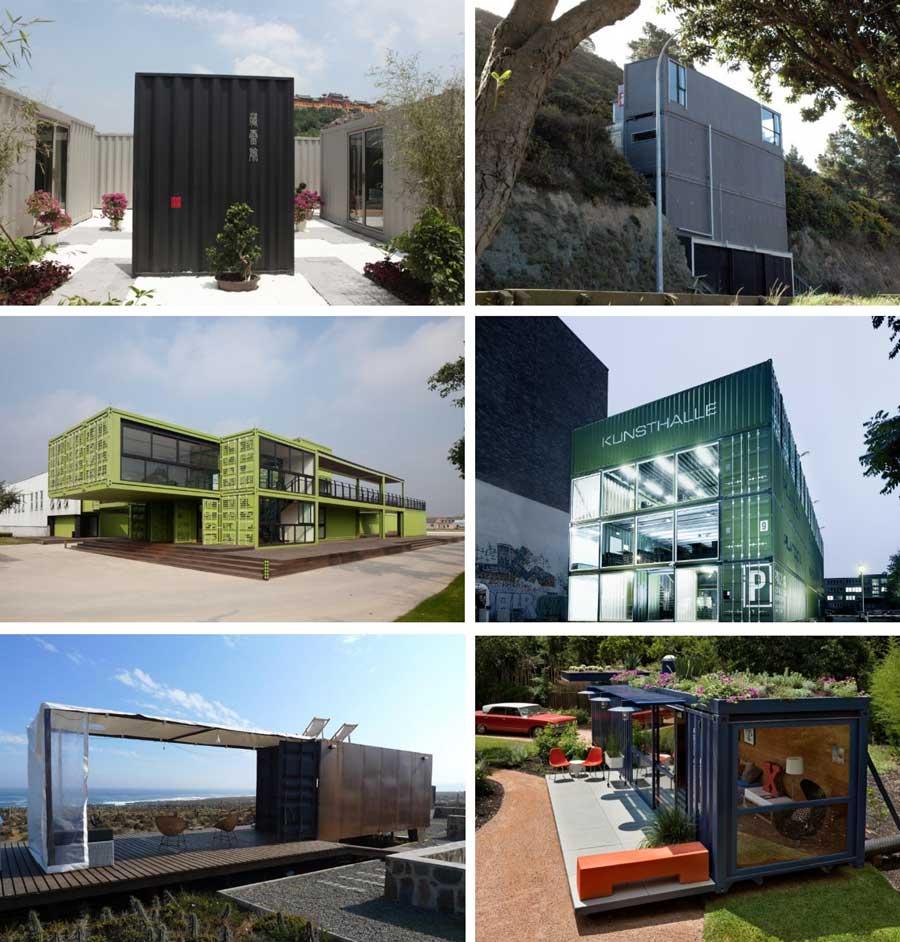 exemples de conteneurs de maisons
